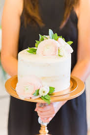 Semi Frosted Cake From An Elegant Spring Anniversary Party On Karas Ideas