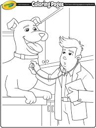 Let Your Kids Color In This Great Veterinarian Free Printable