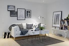 Living Room Area White Sofa Table Wall Shelves Bookcase Rug Carpet Stand Lamp Bag Pillow Plant Designs House Decoration Ideas Apartment Decorating Interior