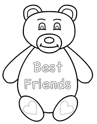 Best friend coloring pages to and print for free