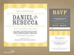 Custom Wedding Invitation Set Yellow Vintage By Louandsofia
