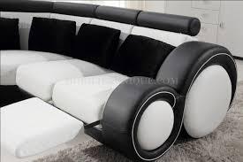 pied de canap design canapé d angle panoramique en cuir avec reposepied intégré relax 1