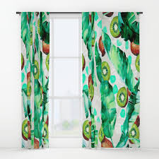 Tropical Window Art Curtains by Paintbrush Window Curtains Society6