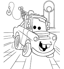 Image Of Lightning Mcqueen And Mater Coloring Pages To Print