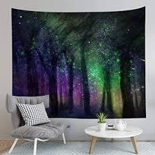 tapestry wall hanging grün und lila märchenwald böhmische