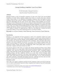 si e accor strategic branding in hospitality pdf available