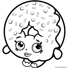 Print Dlish Donut Shopkins Season 1 To Coloring Pages