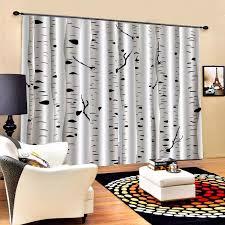 Schlafzimmer Vorhã Nge Birke Wald 3d Fenster Vorhang Für Wohnzimmer Schlafzimmer Vorhänge Cortinas Angepasst Größe