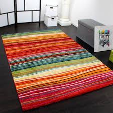 wohnzimmer teppich modern streifen muster