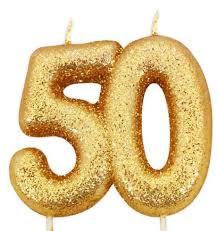 kuchen kerze 50 geburtstag gold glitzer world