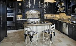 kitchen ideas with dark cabinets large green open shelves white
