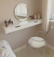 Bathroom Vanities With Matching Makeup Area by Vanity Table For Small Space Hexagonal Storage For Mirror Wall Of