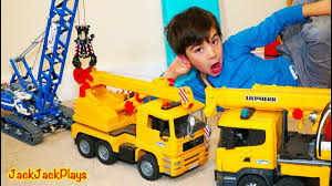 100 Truck Toys Fort Worth Pretend Play Crane Fishing And Unboxing Surprise Toy S YouTube