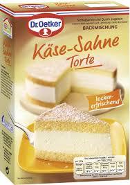 dr oetker käse sahne torte