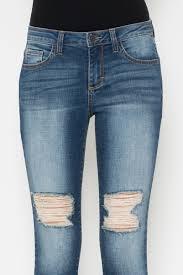 knee skinny crop jeans