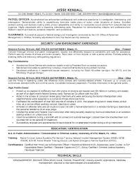 Law Enforcement Objective Security Officer Resume Career Samples