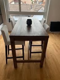 hochtisch aus holz mit 4 stühlen kaufen auf ricardo