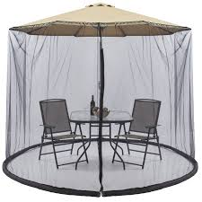 Mosquito Netting For Patio Umbrella Black by Best Choice Products Outdoor 9 Foot Patio Umbrella Screen Black