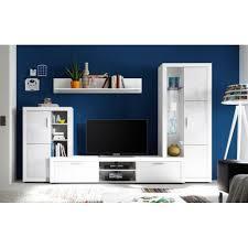 anbauwand wohnzimmerschrank tv wandverbau 89 185 17 tuna weiß ca 270 cm