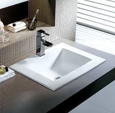 Kohler Overmount Bathroom Sinks by Homey Design Bathroom Sinks Top Mount Outstanding Sink With