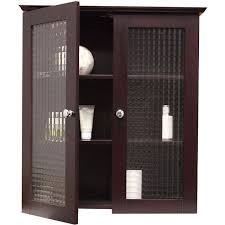 bathroom wall cabinet with two tempered glass doors modern storage