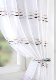 vertical striped voile panel with eyelets london flat misc