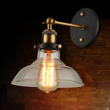 retro industrial edison bulb single wall sconce ceiling l glass