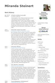 Childcare Provider Resume Samples VisualCV Database