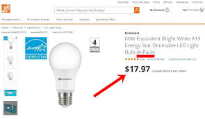 ecosmart 60w equivalent bright white a19 energy dimmable