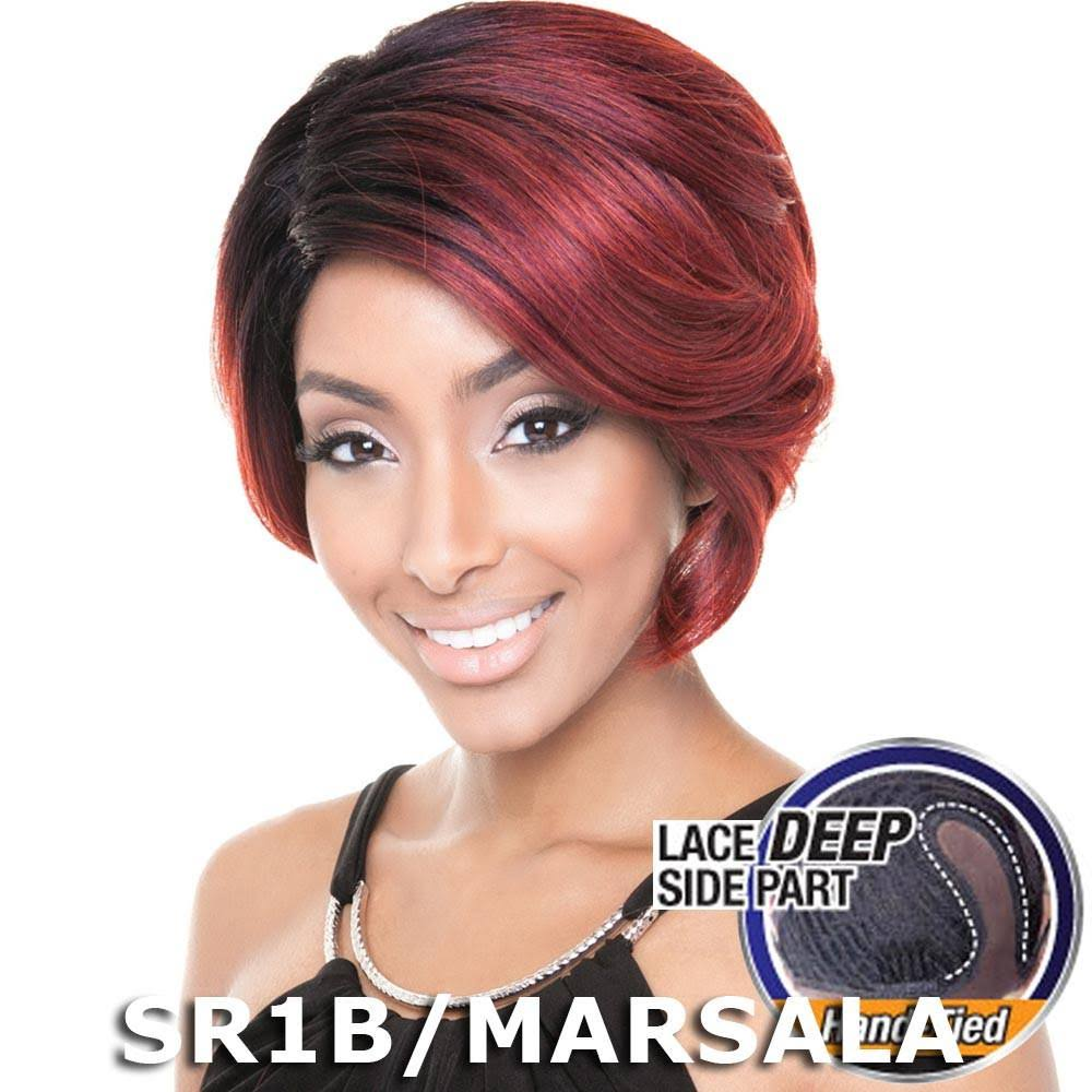 Red Carpet Collection Deep Side Part Silk Lace Front Wig - RCP608 March (1 Jet Black)