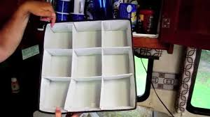 Great RV Cupboard Storage Idea