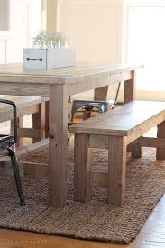 Incredible How To Make A Dining Room Table Bench Diy Farmhouse Love Small