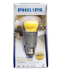 save energy with the philips dimmable ambient led light bulb