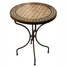 table ronde mosaique fer forge table en mosaique pas cher 5 table jardin marocain zellige pas