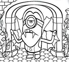 Halloween Printable Coloring Pages Haunted House Disney Free Activities Kids Minion Banana Pump Large Size