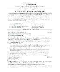 Company Resume Sample Hr Executive Secretary Examples