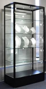 glass display cabinet with spot lights commercial or residential
