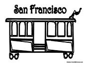 San Francisco California Cable Car More Transportation And Vehicle Coloring Sheets