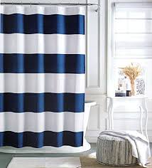 tommy hilfiger cabana stripe shower curtain navy blue and white