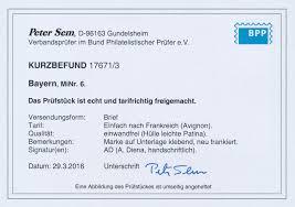 Stamp Auction Bayern Marken Und Briefe Auction 40 Germany