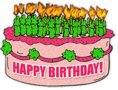 Moving clipart birthday cake 6