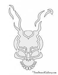 Star Wars Printable Pumpkin Carving Templates by Free Stencil Gallery Donnie Darko Frank The Rabbit Stencil