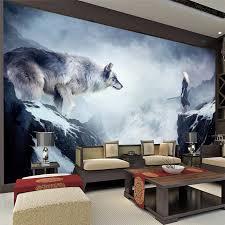 umweltfreundliche 3d riesiges wandgemälde fantasie world wolf hintergrund für sofa tv wohnzimmer bettwäsche tapeten wohnkultur