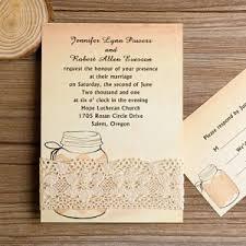 Exquisite Rustic Mason Jar Wedding Invitations EWLS003
