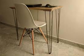 pieds de bureau création de bureau sur mesure avec plateau en chêne massif