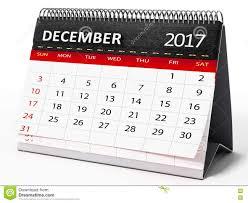 calendrier bureau décembre 2017 calendrier de bureau illustration 3d illustration