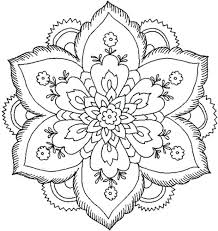 Free Coloring Pages No Download Beautiful Adults Print Nature Flower Mandala For Medium Size