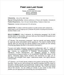 Resume Objective For Government Job Examples Military Bralicious Co