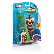 Fingerlings Baby Sloth Kingsley Brown Interactive Pet By WowWee Toy Depot