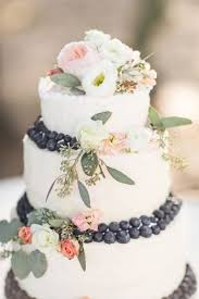 Flower And Berry Wedding Cake